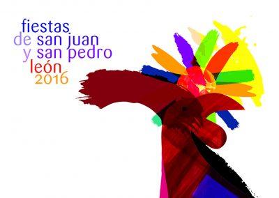 cartel ganador fiestas san juan y san pedro león 2016 winner poster