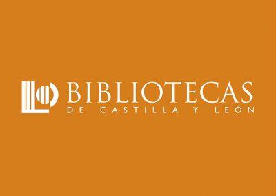 bibliotecas de castilla y león logo y aplicaciones