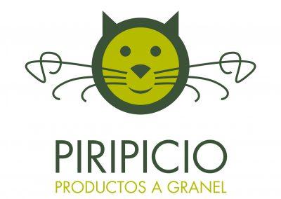 piripicio logo y aplicaciones gráficas