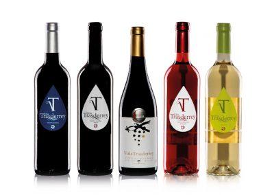 vinos viñas trasderrey etiquetas