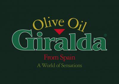 Giralda Export aceite. Logomarca, etiquetas, publicidad y packaging
